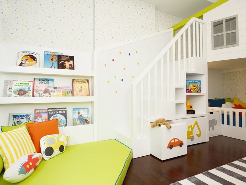 4-Crocodily-Çocuk odası tasarımı, çocuk mobilyası,iki katlı oyun alanı,yatak
