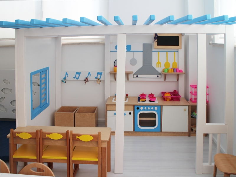 5-Crocodily-Anaokulu Sınıfı Oyun Evi Tasarımı-Mutfak