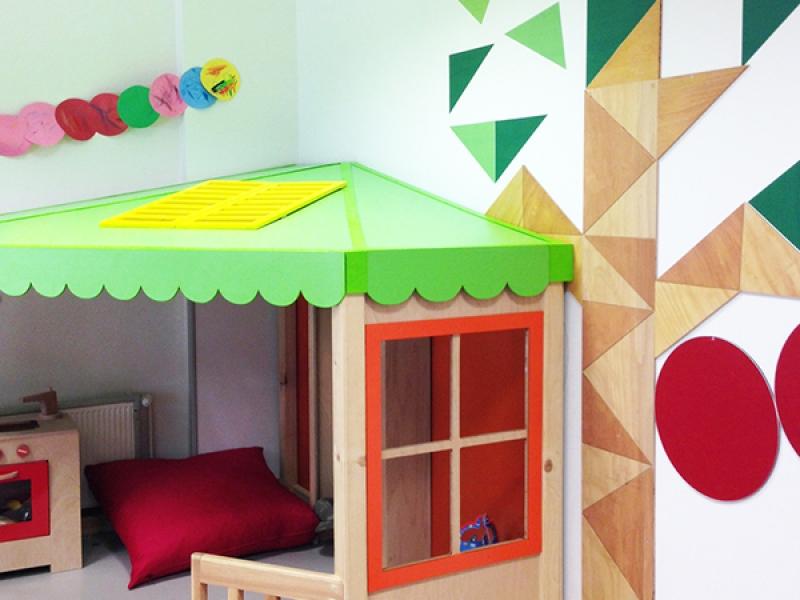 7.Crocodily-İz Çocuk Gelişim Merkezi Yeşil Çatılı Drama Köşesi ve Ağaç Pano